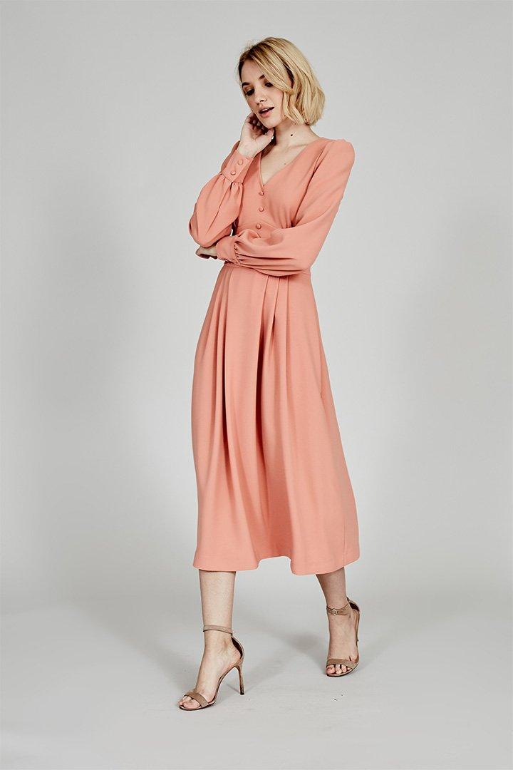 Coosy verano 2018 vestido coral