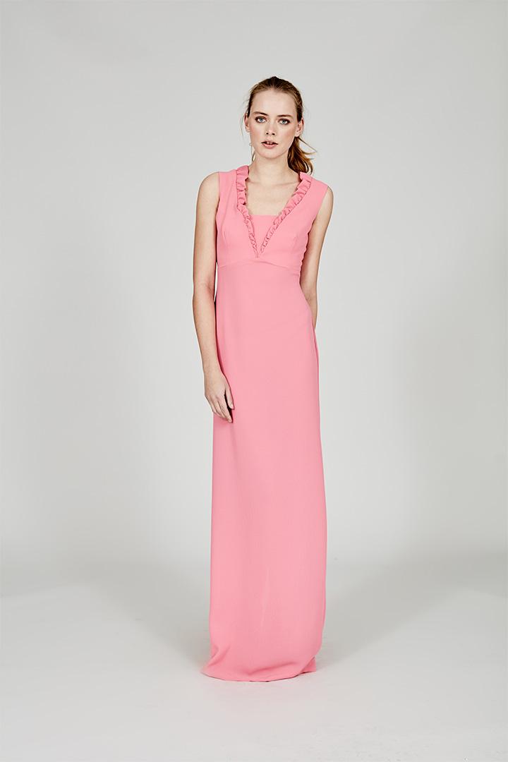 Coosy verano 2018 vestido largo rosa