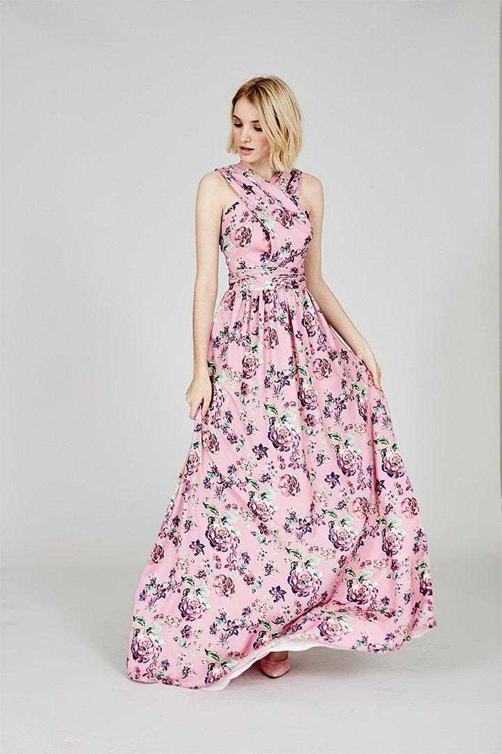 Coosy verano 2018 vestido rosa con flores