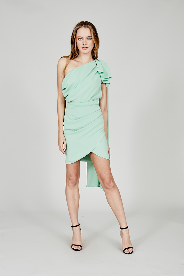 Coosy verano 2018 vestido verde