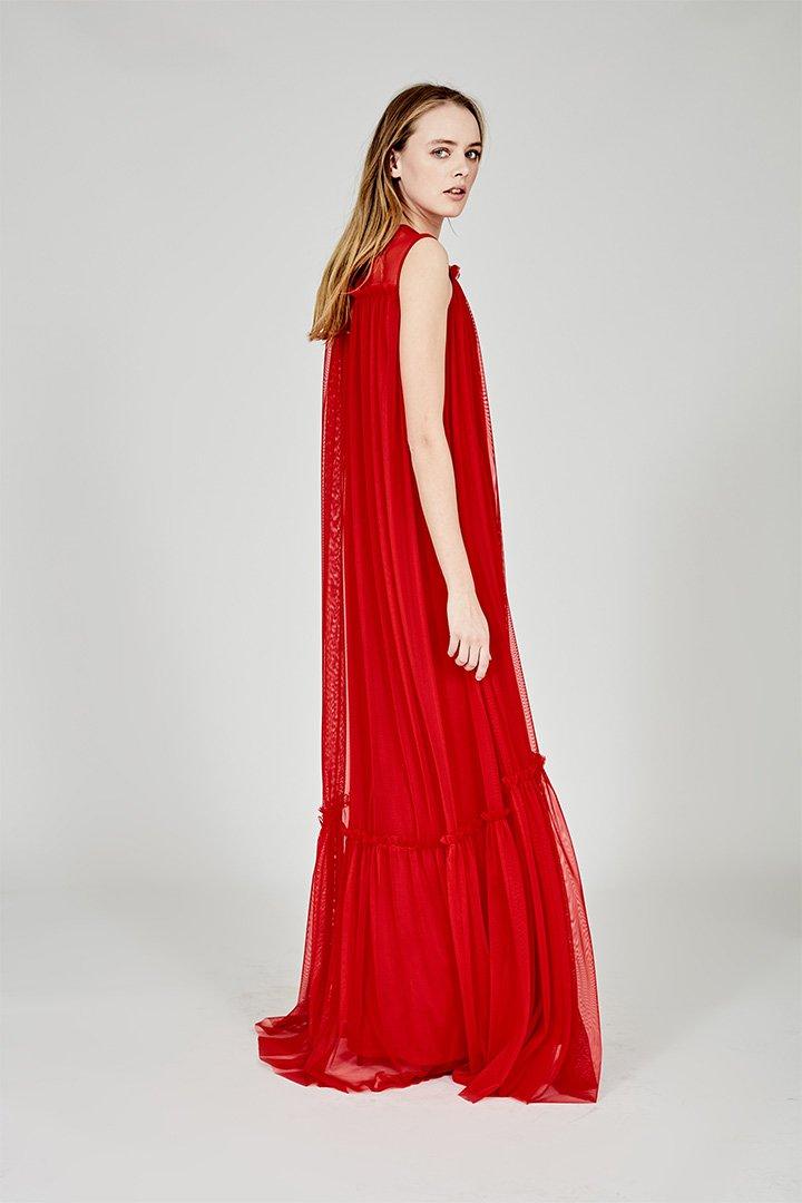 Coosy verano 2018 vestido largo rojo