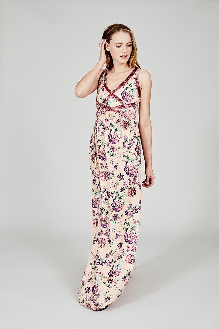 Coosy verano 2018 vestido largo flores