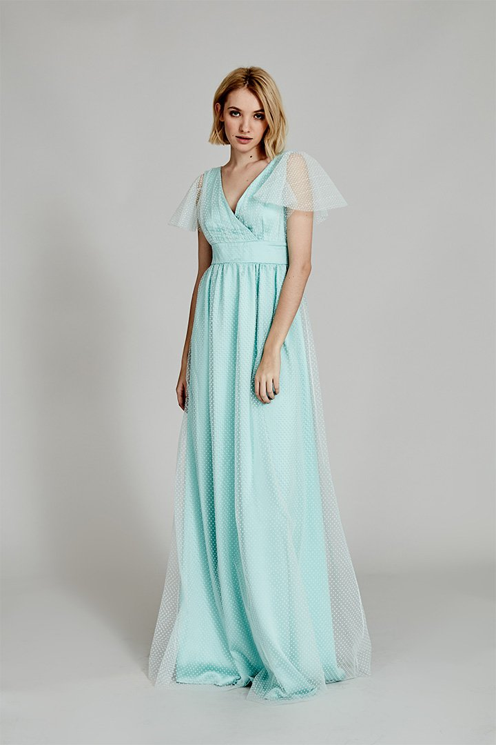 Coosy verano 2018 vestido turquesa