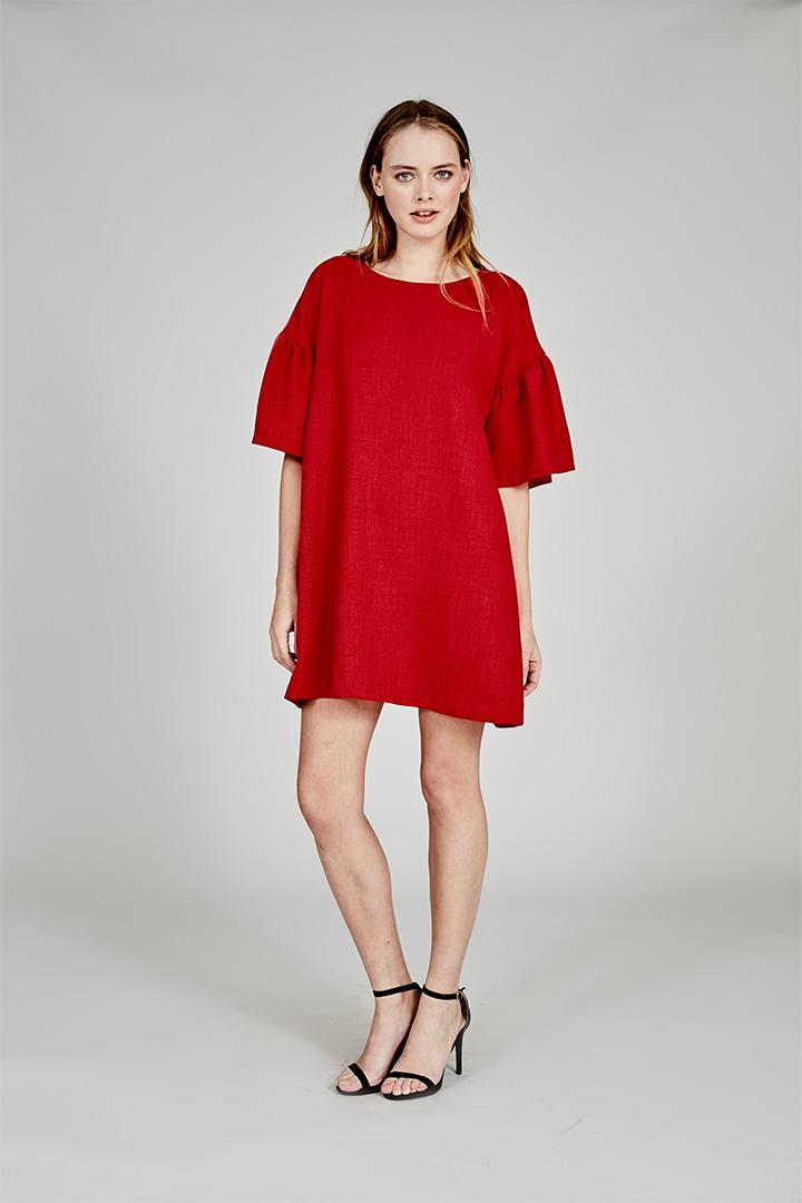 Coosy verano 2018 vestido rojo