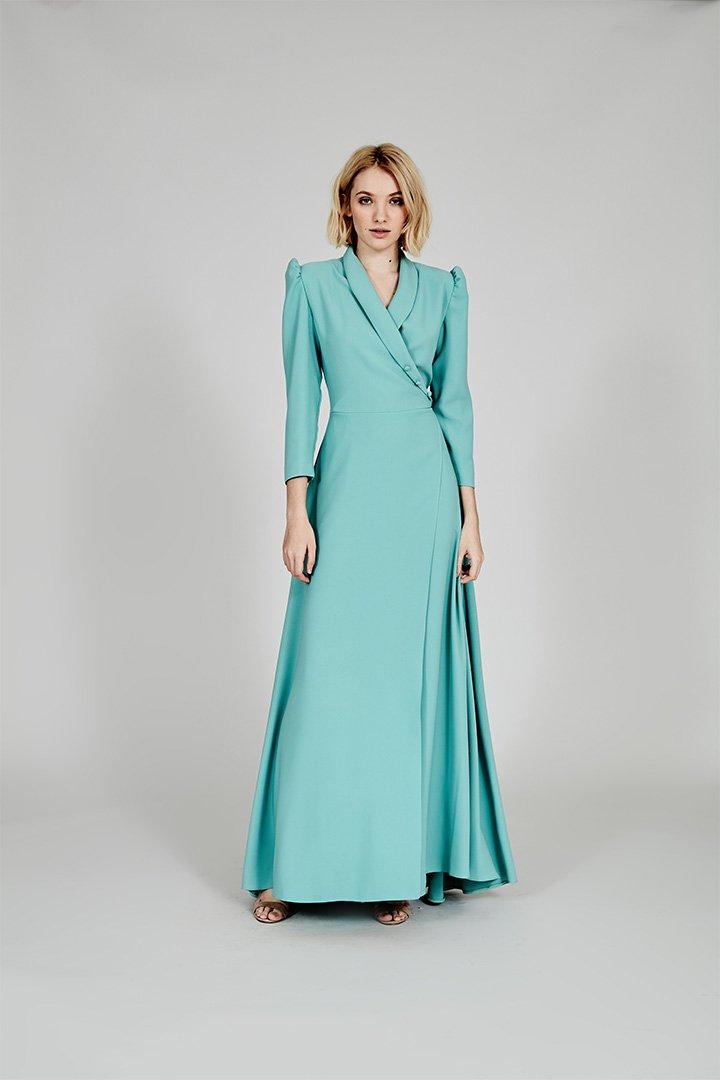 Coosy verano 2018 vestido largo verde