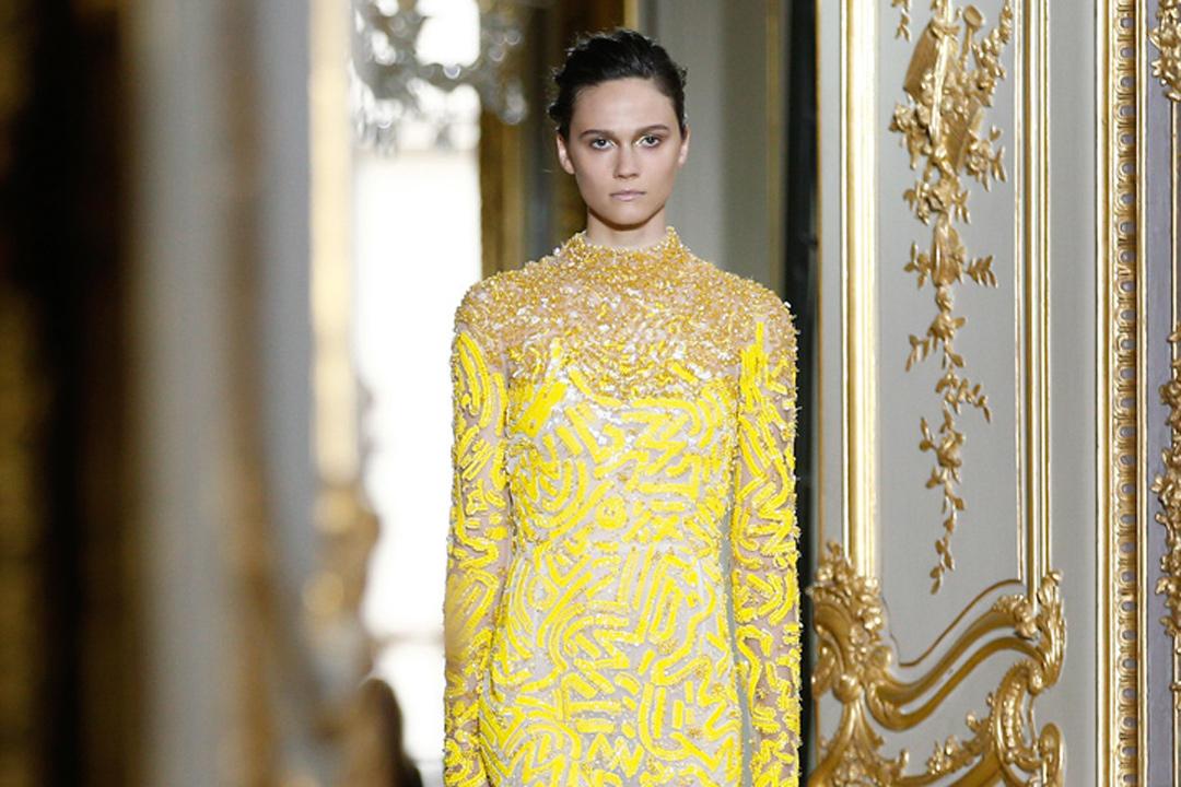vestido amarillo J.Mendel