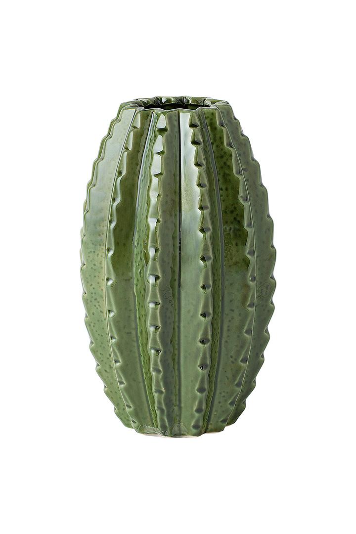 Decoración de primavera con jarrón de cactus