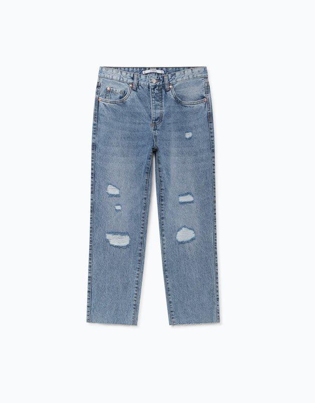 Jeans rotos de Lefties