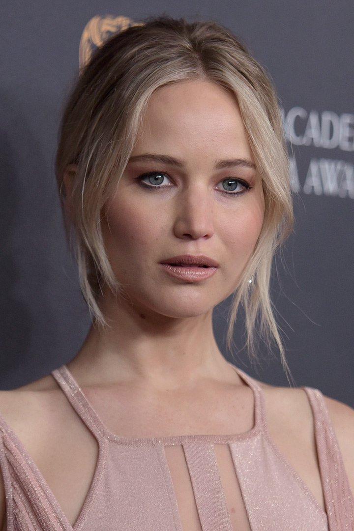 Maquillaje de navidad Jennifer Lawrence