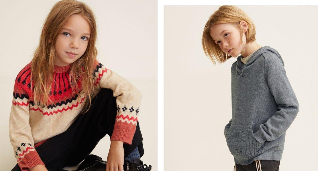 En Mango Kids tienen los jerséis más chulos para los niños más cool
