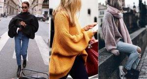 Se llevan los jerséis (muy) oversize
