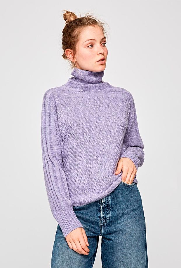 Jersey básico en color lila de Pepe Jeans