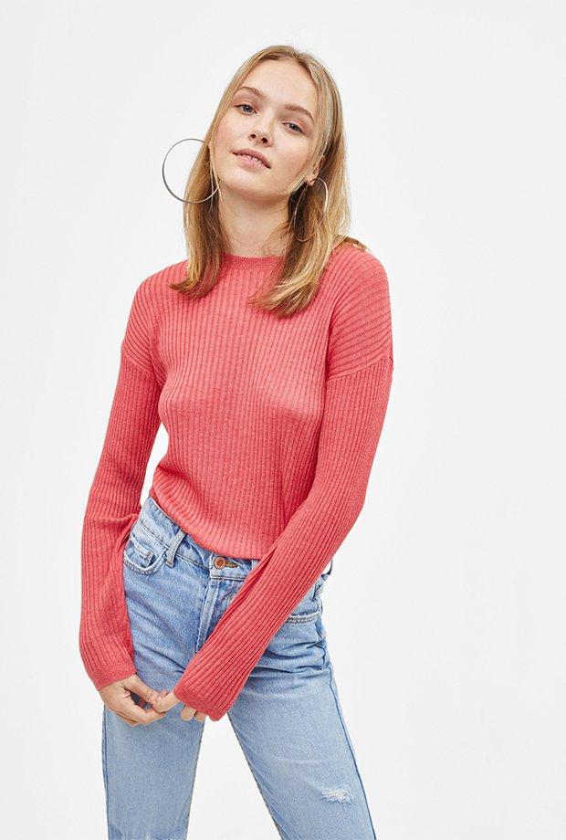 Jersey básico rosa