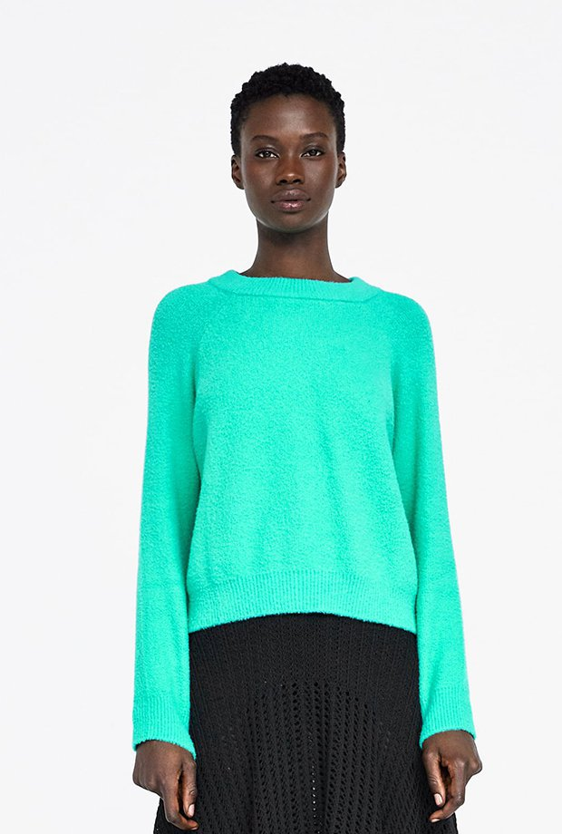 Jersey básico turquesa