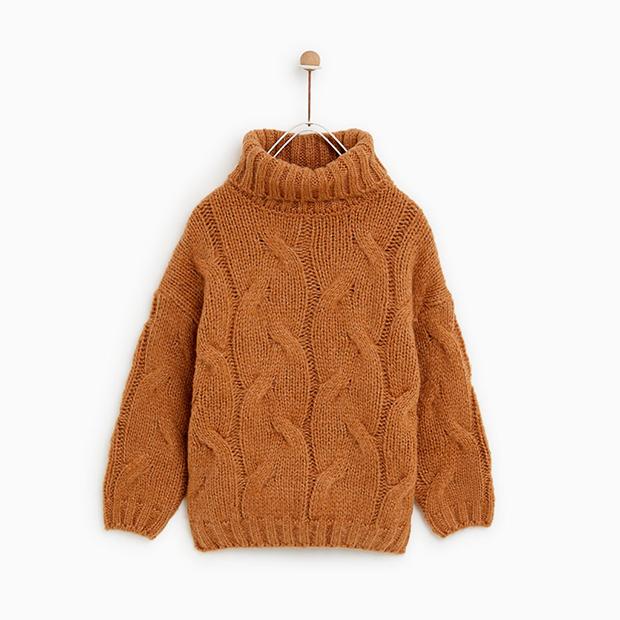 Jersey camel de Zara Kids invierno 2018