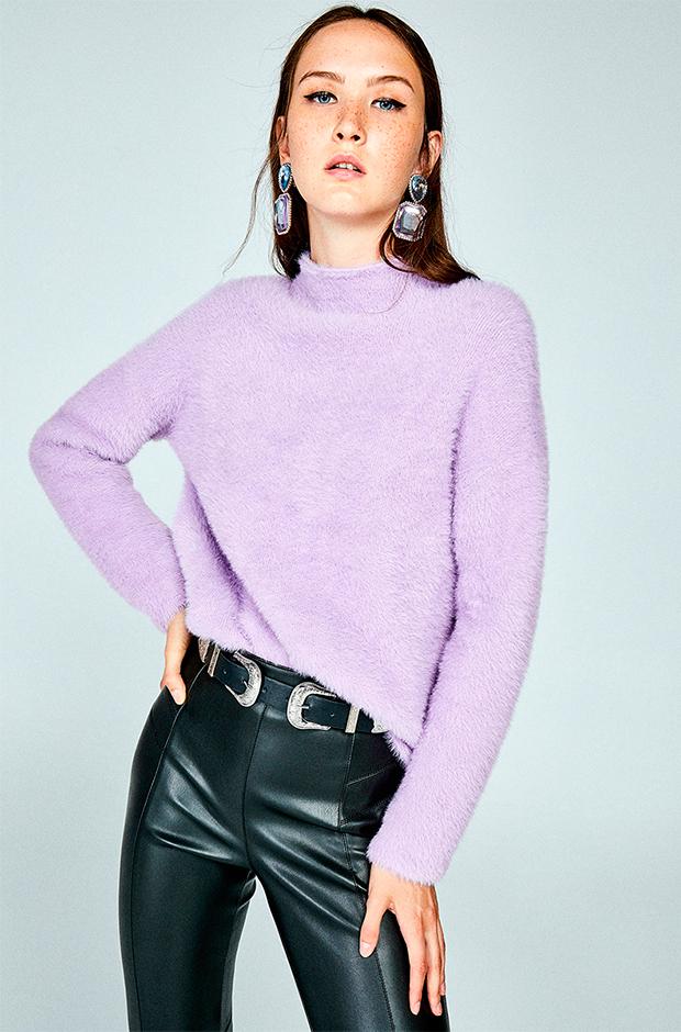 Jersey furry de color lila
