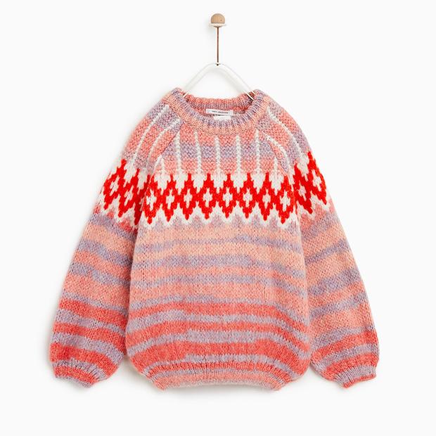 Jersey jacquard de Zara Kids invierno 2018