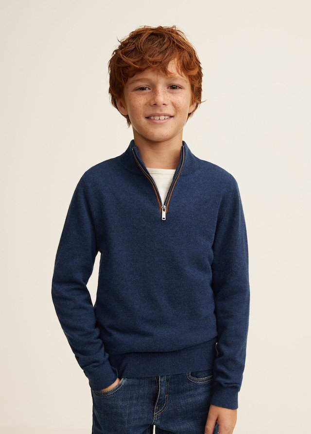 Jersey azul de niño de Mango Kids