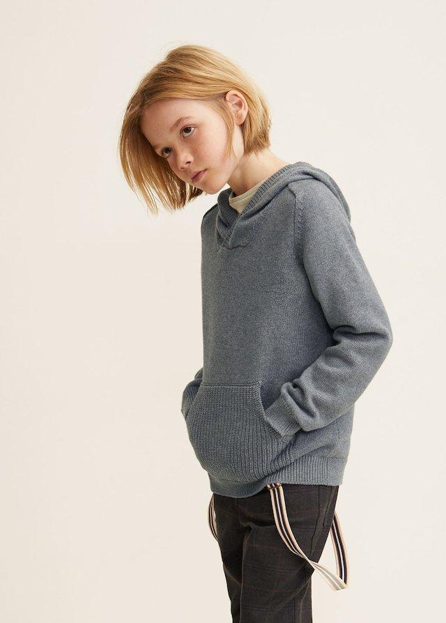 Jersey gris de niño de Mango Kids