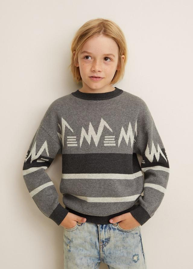 Jersey en tonos grises de niño de Mango Kids