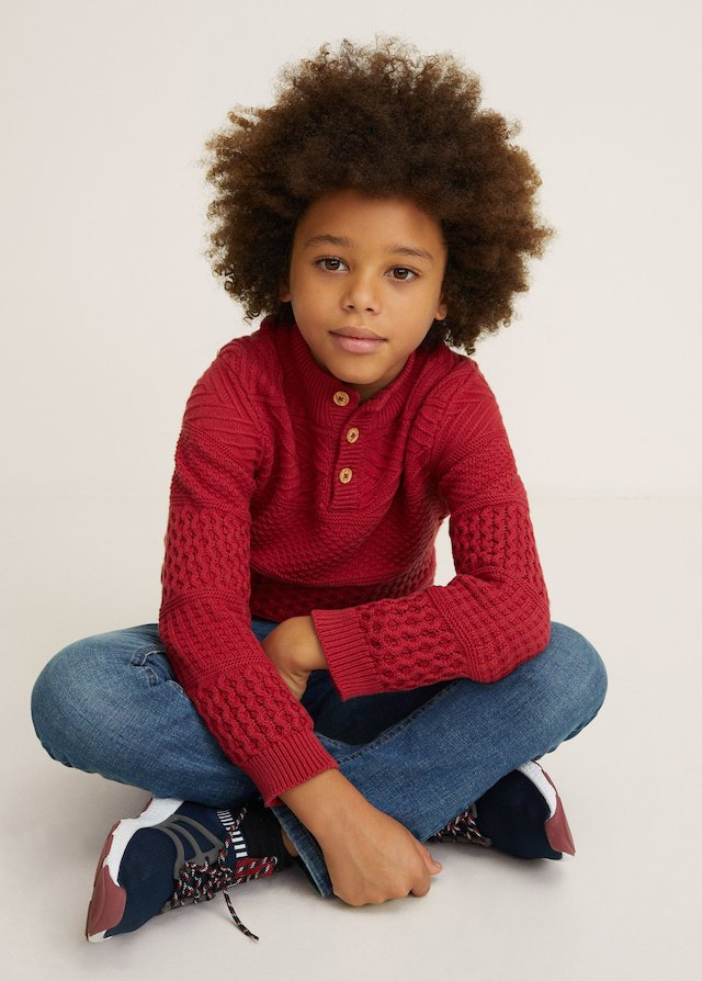 Jersey rojo de niño de Mango Kids