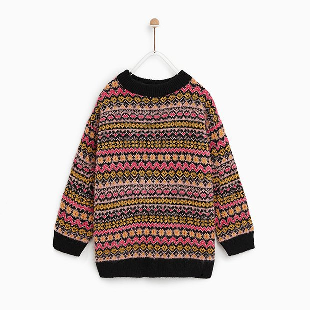Jersey multicolor de Zara Kids invierno 2018