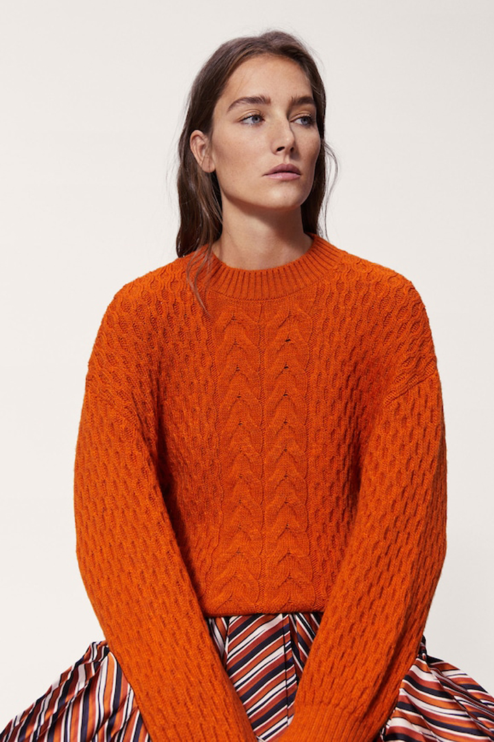 jersey ochos oversize naranja mango ropa