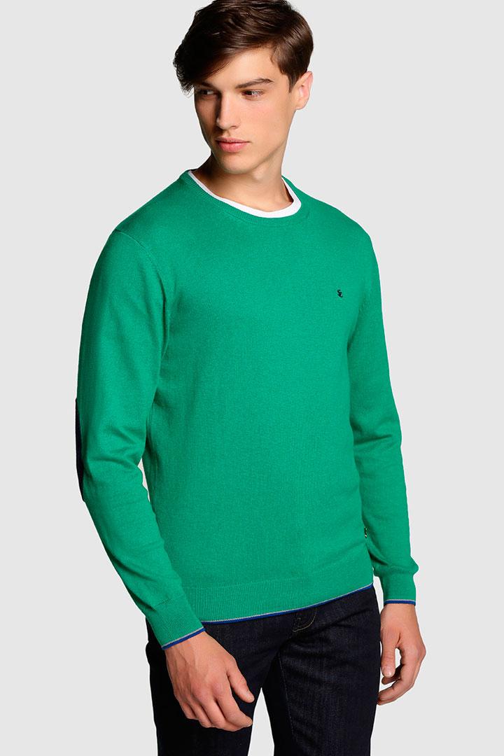 jersey de punto verde de el corte inglés