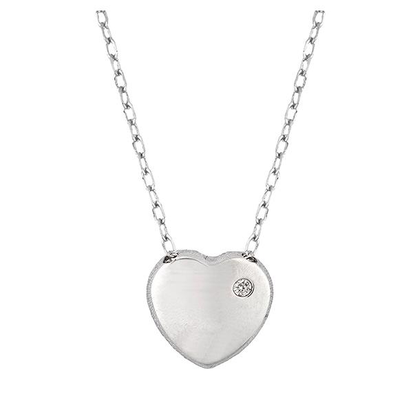 Joyas para San Valentín: Corazón en oro blanco
