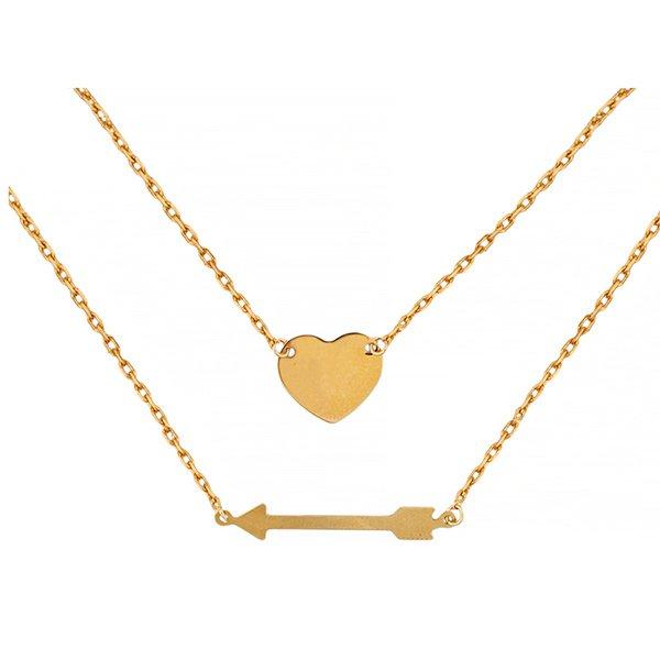 Joyas para San Valentín: colgante flecha y corazón