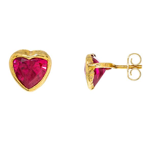 Joyas para San Valentín: Pendientes con forma de corazón