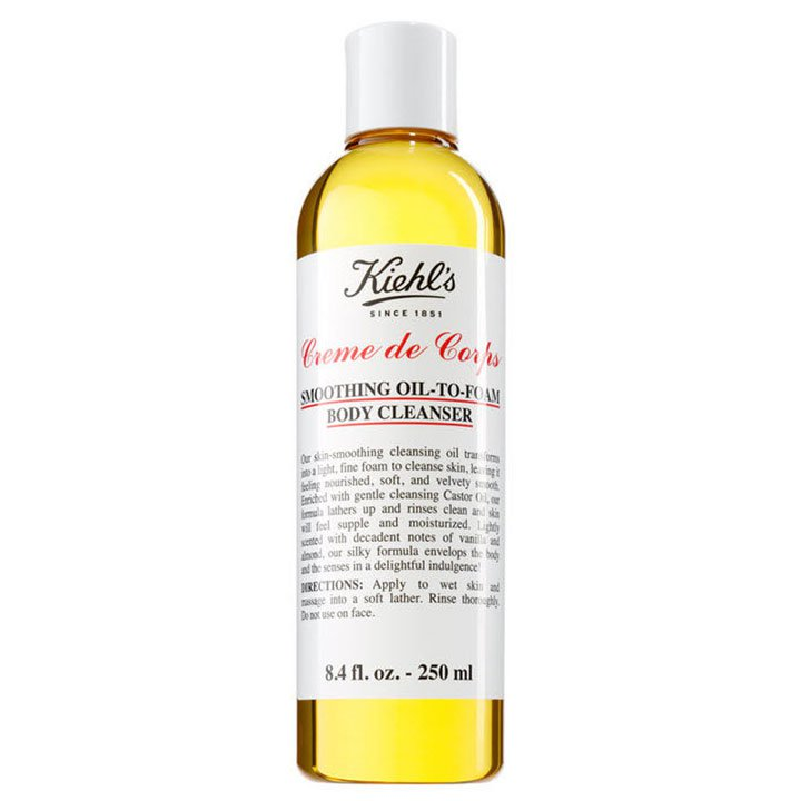 Smoothing Oil-To-Foam Body Cleanser de Kiehl's: productos prolongar bronceado