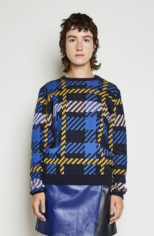 Jersey de algodón con estampado tartán de Kling: jerséis otoño invierno 2018