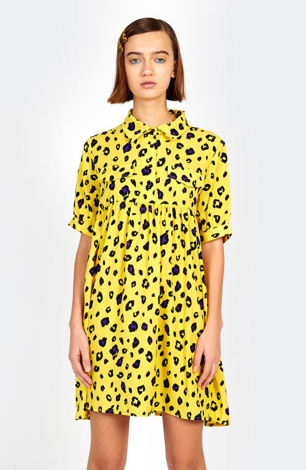 Vestido camisero con animal print de Kling: vestidos primavera 2019