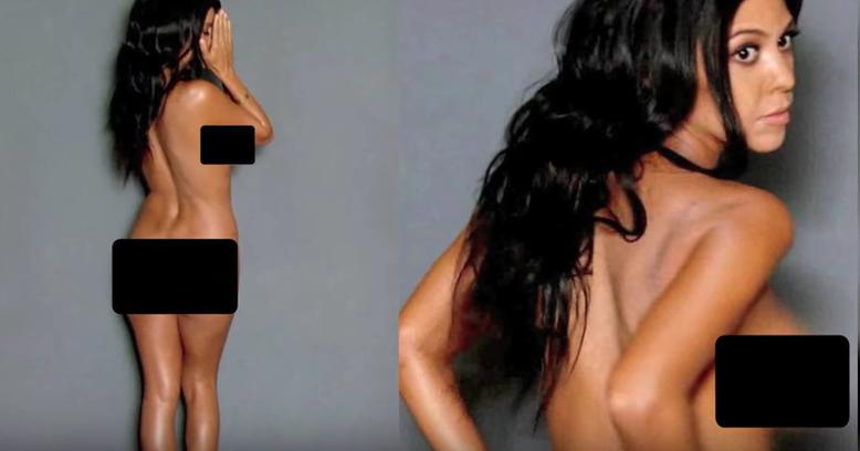 Kourtney Kardashian desnuda