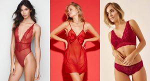 La lencería roja para Navidad