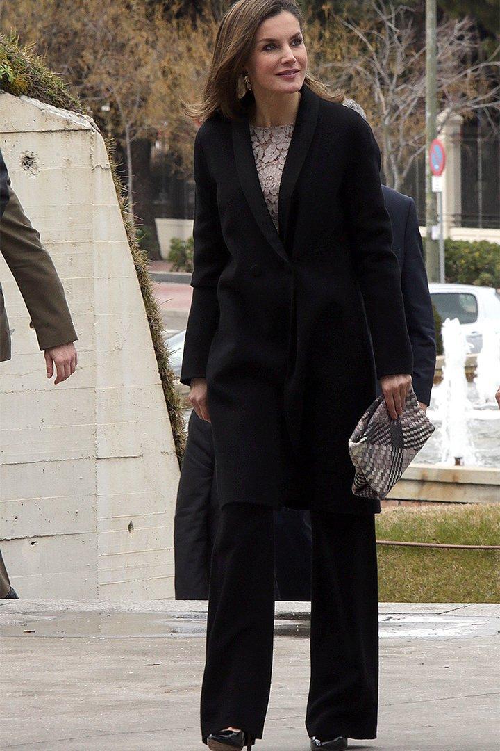 La Reina Letizia con ropa de marcas españolas