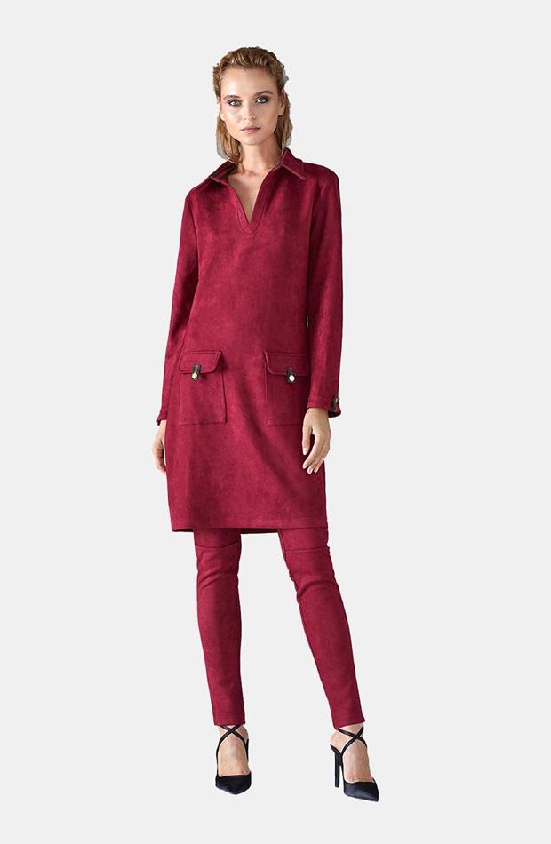Vestido de antelina con bolsillos de Lola Casademunt: prenda invierno vestidos
