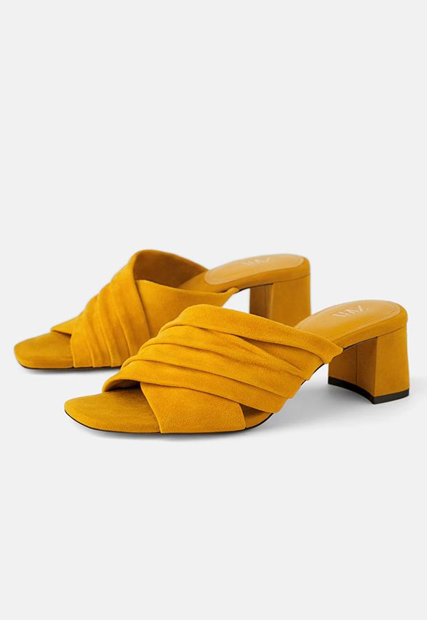 Mules amarillas de Zara