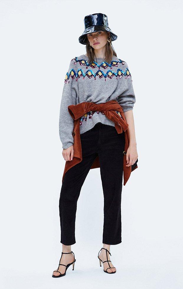 Looks de Zara con jersey con lentejuelas