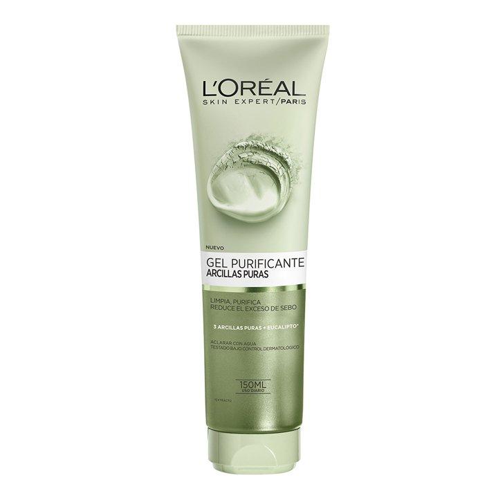 Gel Purificante de Arcillas Puras con Extracto de Eucalipto de L'Oreal: productos piel luminosa