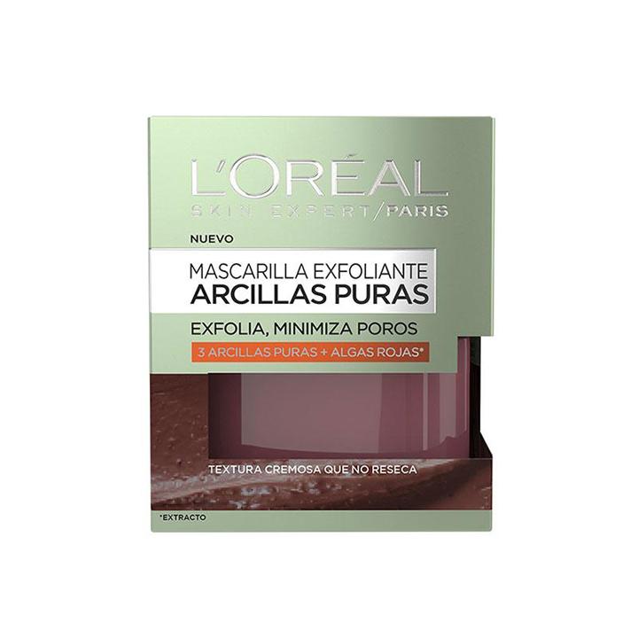 Mascarilla Exfoliante Arcillas Puras de L'Oreal: Productos pieles con acné