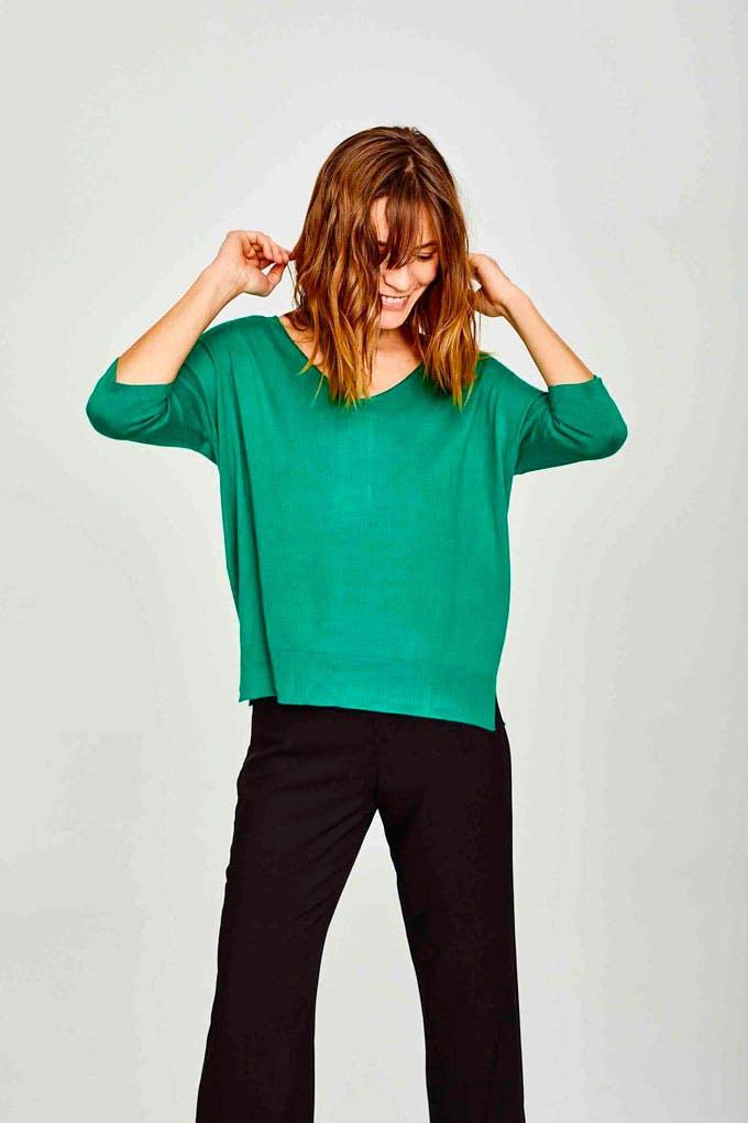 Jersey verde de punto