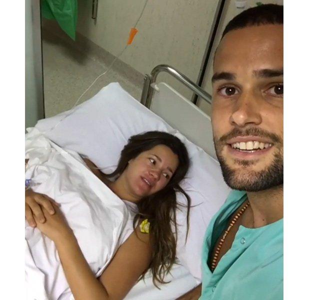 Malena Costa preparada para parir