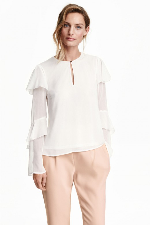 Blusa blanca de H&M