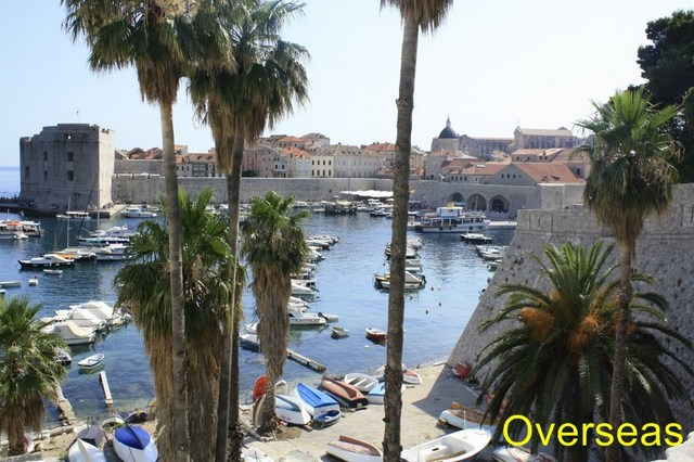 Vista ciudad y puerto viejo Dubrovnik