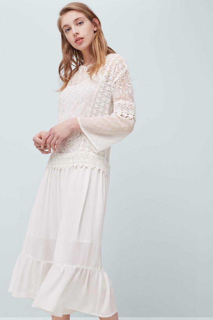 Vestidos blancos mango