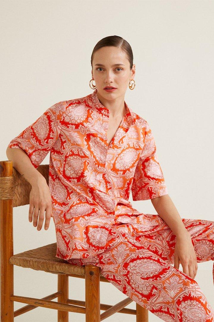 Blusa estampado paisley de Mango verano 2018