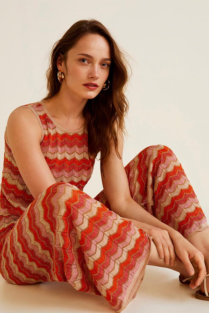 Pantalón estampado zig zag de Mango verano 2018