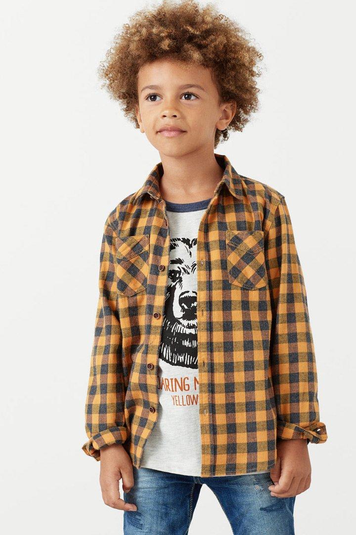 Mango kids otoño camisa cuadros